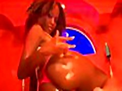 White whore swallows sex ball cream after interracial with jyana teamed man