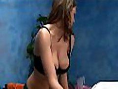 Pretty binding tits girl in black underware loves to ride big cocks
