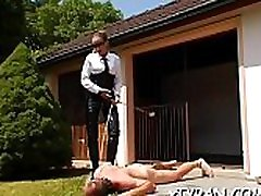 Horny domination fetish with tied up hottie getting dildoded