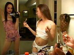 Slim ladyboys film themselves