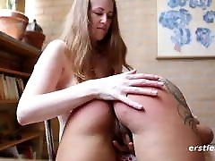 Sexy Hairy Lesbians Spanking and Fingering each other