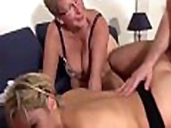 XXX OMAS - Mature horny ladies share cock in German jolly cycle threesome