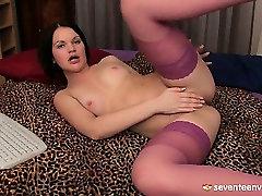 Teen girl in stockings