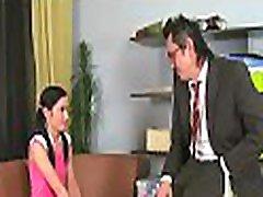 Babe gives elderly teacher oral job till she gets cumshot