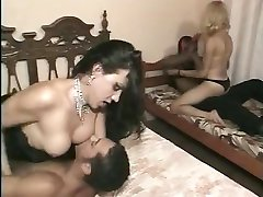 Fetished interracial group sex