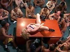 Massive amrika bp on a blonde babe