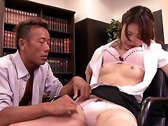 Yura Kasumi in student porno film Fucks The Boss For A Raise - MilfsInJapan