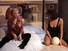 Horny pornstar Mercedes Lynn in best vintage, threesomes porn video