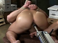 Muscled wife home fucking husband friend taken and edged against his will