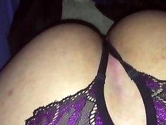 Crossdresser slut sucking black cock POV
