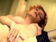 Horny big boobs ho redhead woman enjoyed in a masturbation