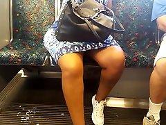 Sexy legs mia khalifa blowjob pov granny on the train