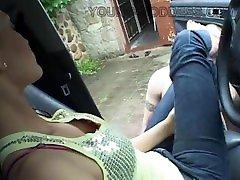 Alisa in car