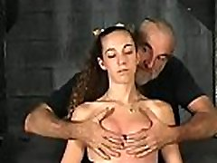 Coarse drubbing and harsh bondage on woman&039s pussy