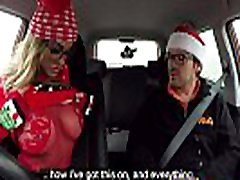 Fake Driving School Randy instructor fucks Kiwi MILF hard on driving lesson