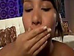 Favourable teen enjoys mind blowing head from ravishing brunette