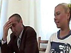 Chick is delighting older teacher with her chaste beaver