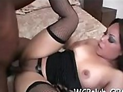 Two white slutty babes are sharing one massive give mon dick