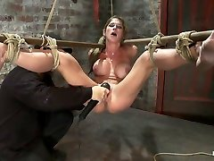 Hot miss raqoel Suffers The Most Painful Bondagecategory 5 Suspension Made To Squirt All Over The Place - HogTied