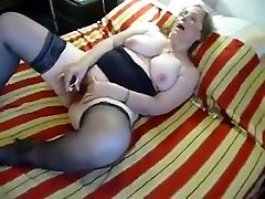 Chubby wantaanal com in Stockings