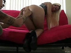 Lesbian cumshot in petite sisters mouth POV 03