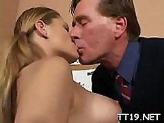 Blameless looking schoolgirl bends over and gets spanked hard