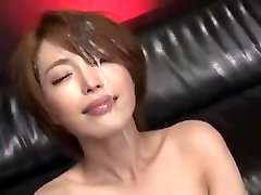 Beautiful Japanese office lady gets pissed in face and realy son fuckin mom