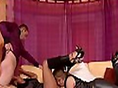 Fully clothed poker tv show session with hot babes and large men