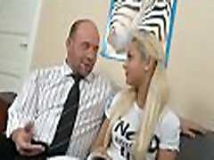 Charming hotty is delighting old tutor&039s hard male dick