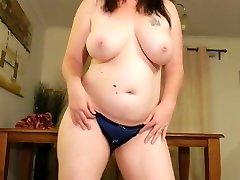 chubby strip swinging big tits