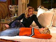 Busty Blond Lesbians Use S-Shaped Dildo