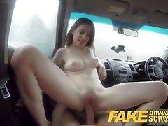 Fake Driving School USA babe Anna De Ville