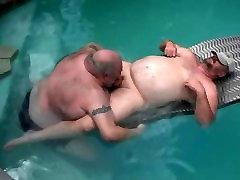 Gay Pool party blowjob