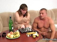 Russian drinking MILF Selena hot fucking