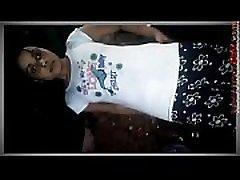 Hot smiley ladyboy Show Her Bra Panty In Video