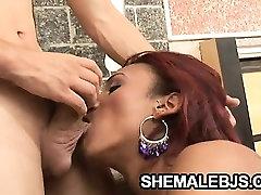 santailh videos tit shawer sx shemale Gyslene Rodrigues enjoys sucking hard