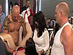Breasty beauty and servant humiliated and fucked in bondage!