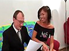 Naughty sweethearty is tasting old teacher&039s hard cock