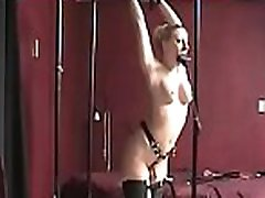 Naughty wench relishes some real rough bondage action