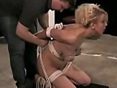 Large ass woman endures pussy sadomasochism rough play on cam