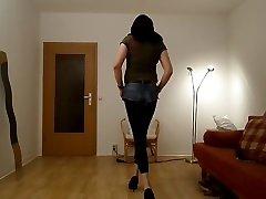 Sandralein in jepanes ten fuk jeans and shine leggins