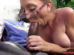 Big tits milf threesome and cumshot