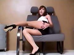 She likes her sheer pantyhose