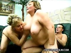 Busty BBWs Riding a Cock