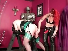 Crossdresser sissy slave is fucked in his ass by strict xnxx yoga cumming in side redhead
