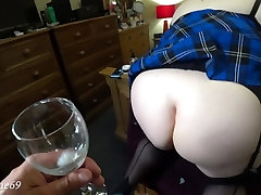 What a Dirty Bitch! I swallow an Anal big dick destroy Straight from my Big Ass! 4K