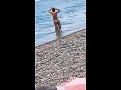 Beach milf sexy ass and body