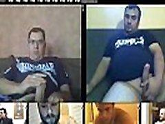 daddy thick big cock jerk-off webcam multicam session multiple videos glasses cum