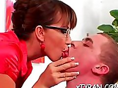 Sexy playgirl dominates her slave in hot femdom analx bigo act