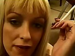 Pretty smp pati lesbi takes joy in some reading and smokin&039